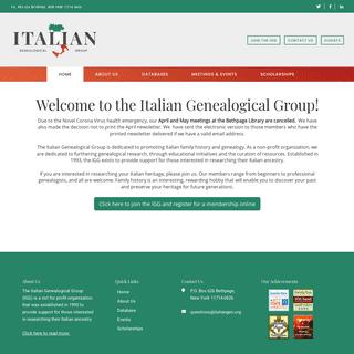 Italian Genealogical Group, Inc. – Italian Family History & Genealogical Research