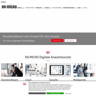 Kanzleisoftware von RA-MICRO- Programm für den Anwalt - RA-MICRO