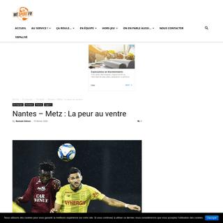 Nantes - Metz - la peur au ventre ou la peur du ventre -