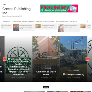 Greene Publishing, Inc. – Serving Madison County since 1964