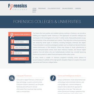 Forensic Science Colleges & Universities - Top Forensics Colleges