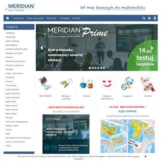 Pomoce szkolne, mapy ścienne, multimedia, plansze dydaktyczne - MERIDIAN