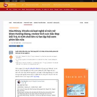 Hòa Minzy, ViruSs và loạt nghệ sĩ nức nở khen Hương Giang, review tích cực Sắc Đẹp Dối Trá; K-ICM chơi