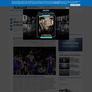 Nba- i Lakers passano a Denver, si fermano i Raptors-br --  - News - Sportmediaset