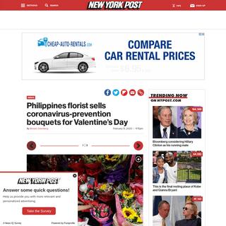 ArchiveBay.com - nypost.com/2020/02/13/philippines-florist-sells-coronavirus-prevention-bouquets-for-valentines-day/ - Philliipines florist sells anti-coronavirus bouquets for Valentine's Day