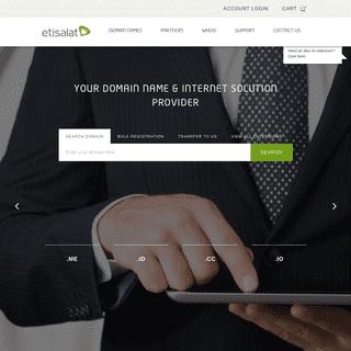 Etisalat Domains Storefront - Online Registration Storefront