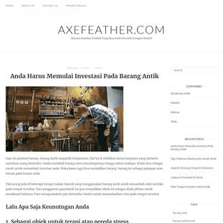 Axefeather.com - Macam Koleksi Terbaik Yang Bisa Anda Peroleh Dengan Mudah
