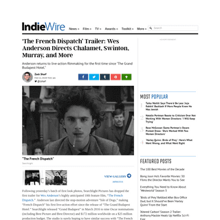 'The French Dispatch' Trailer- Wes Anderson Directs Timothee Chalamet - IndieWire