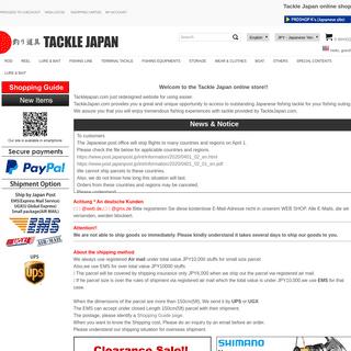 ArchiveBay.com - tacklejapan.com - Tackle Japan (Online fishing tackle shop)