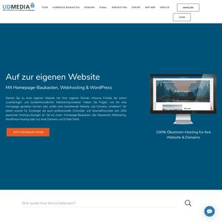 Homepage-Baukasten, Webhosting & Domains. Website-Hosting mit Ökostrom