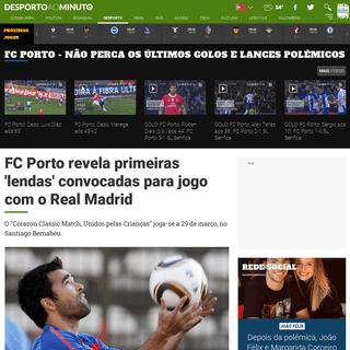 ArchiveBay.com - www.noticiasaominuto.com/desporto/1421918/fc-porto-revela-primeiras-lendas-convocadas-para-jogo-com-o-real-madrid - FC Porto revela primeiras 'lendas' convocadas para jogo com o Real Madrid