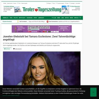 Juwelen-Diebstahl bei Tamara Ecclestone- Zwei Tatverdächtige angeklagt - Tiroler Tageszeitung Online – Nachrichten von jetzt!