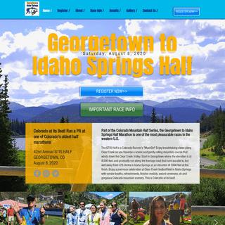 Georgetown To Idaho Springs Half Marathon - GTIS HALF