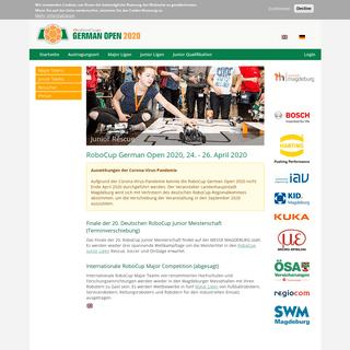 RoboCup German Open 2020, 24. - 26. April 2020 - RoboCup German Open 2020