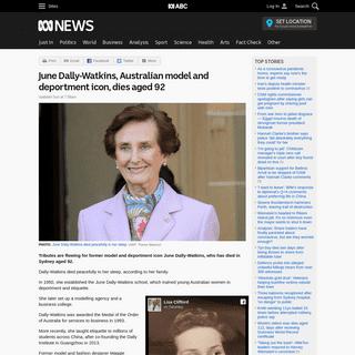 ArchiveBay.com - www.abc.net.au/news/2020-02-23/june-dally-watkins-dies-aged-92-deportment-queen-tributes/11992170 - June Dally-Watkins, Australian model and deportment icon, dies aged 92 - ABC News (Australian Broadcasting Corporation)