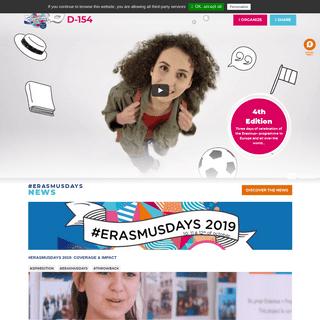 Erasmus Days 2020 - 3 days of celebration of the Erasmus+ programme