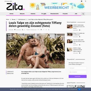 Louis Talpe en zijn echtgenote Tiffany delen geweldig nieuws! (foto) - Zita