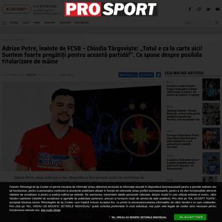 ArchiveBay.com - www.prosport.ro/fotbal-intern/adrian-petre-inainte-de-fcsb-chindia-targoviste-totul-e-ca-la-carte-aici-suntem-foarte-pregatiti-pentru-aceasta-partida-ce-spune-despre-posibila-titularizare-de-maine-18986726 - Adrian Petre, înainte de FCSB - Chindia Târgoviște- -Totul e ca la carte aici! Suntem foarte pregătiți pentru această part