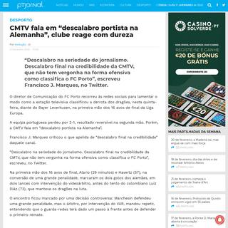"""CMTV fala em """"descalabro portista na Alemanha"""", clube reage com dureza"""