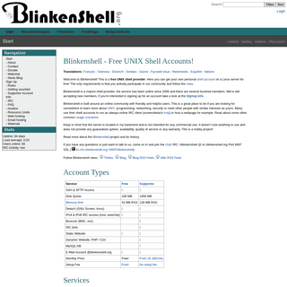 Start - Blinkenshell - Free UNIX Shell Accounts