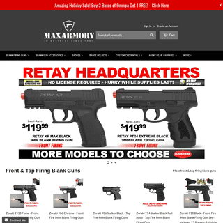 ArchiveBay.com - maxarmory.com - Blank Guns & Blank Ammo - Movie Props - Custom ID Cards & Badges – MaxArmory