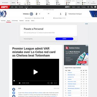 ArchiveBay.com - www.espn.com/soccer/report?gameId=541582 - Chelsea vs. Tottenham Hotspur - Football Match Report - February 22, 2020 - ESPN