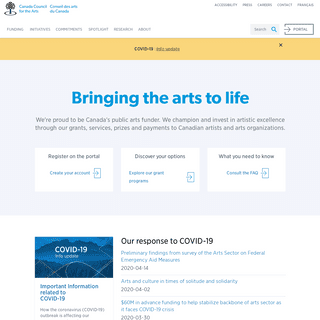 ArchiveBay.com - canadacouncil.ca - Canada Council for the Arts - Bringing the arts to life