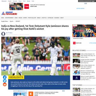 ArchiveBay.com - newsable.asianetnews.com/cricket-sports/india-vs-new-zealand-1st-test-kyle-jamieson-joy-virat-kohli-wicket-q61kkb - India vs New Zealand, 1st Test- Debutant Kyle Jamieson shares his joy after getting Virat Kohli's wicket