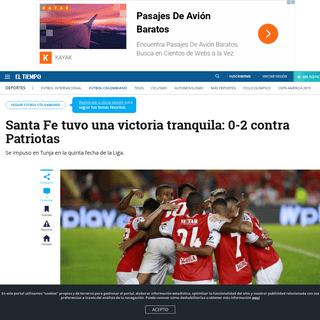 Patriotas vs. Santa Fe- resultado, goles y crónica del partido de la fecha 5 de la Liga - Fútbol Colombiano - Deportes - ELTIE
