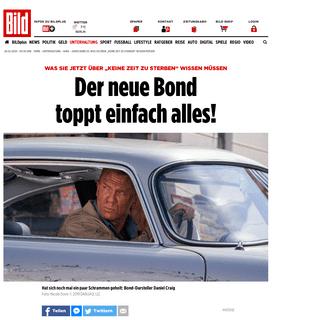 """James Bond 25- Was Sie über """"Keine Zeit zu sterben"""" wissen müssen - Kino - Bild.de"""