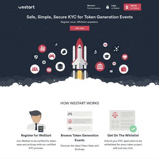 WeStart - Safe, Simple, Secure KYC for Token Generation Events