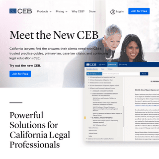 CEB - California Legal Research & CLE