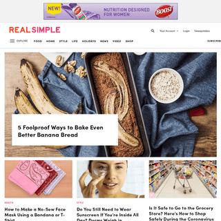 Real Simple- Home Decor Ideas, Recipes, DIY & Beauty Tips