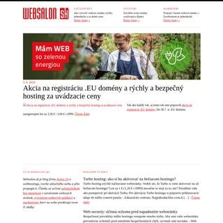 Websalon.sk - blog firmy ACTIVE 24 o webhostingu a tvorbe webstránok