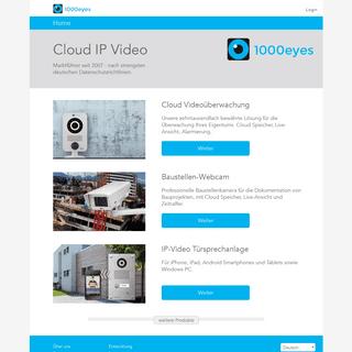 ArchiveBay.com - 1000eyes.de - Cloud Videoüberwachung