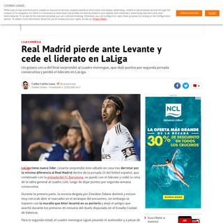 Real Madrid pierde ante Levante y cede el liderato en LaLiga - AS USA