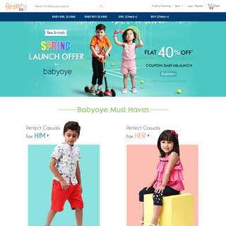 BabyOye Online Shopping Store – Buy at FirstCry.com