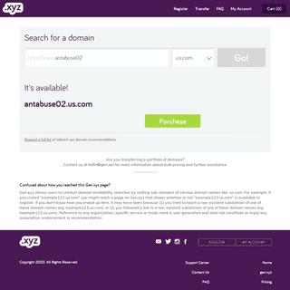 My Account - .xyz - For every website, everywhere®