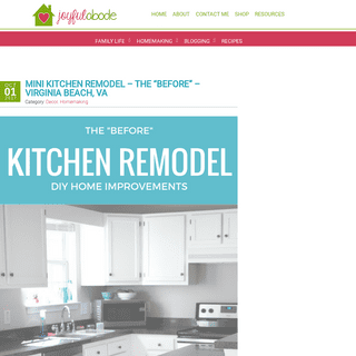 Joyful Abode - Mom + Life + Simplicity Blogger