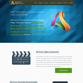All Free Video Software - Best Free Audio and Video Software and CD-DVD-ISO Creation Tools.