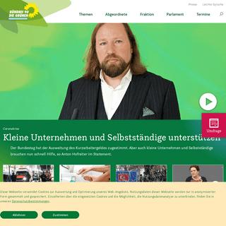 Startseite- Bundestagsfraktion Bündnis 90-Die Grünen