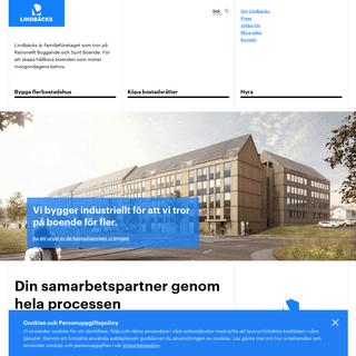 Lindbäcks – Rationellt byggande, Sunt Boende.