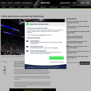 LeBron James doet nu ook beter dan Kobe Bryant - NBA - sporza