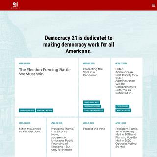 Homepage - Democracy 21 - Democracy 21
