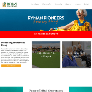 Full Range of Retirement and Care Options - Ryman Healthcare