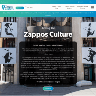Zappos Insights - Culture Training - Customer Service Training - Human Resources Training