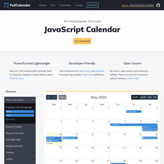 FullCalendar - JavaScript Event Calendar