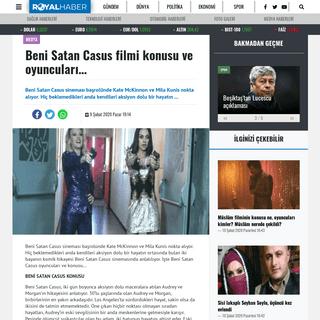 Beni Satan Casus filmi konusu ve oyuncuları… - Kıbrıs Haberleri