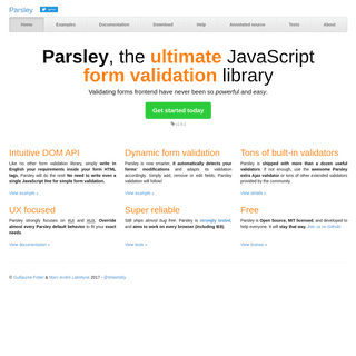 Parsley - The ultimate JavaScript form validation library