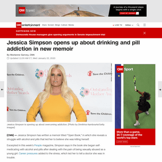 Jessica Simpson opens up about drinking and pill addiction in new memoir - CNN